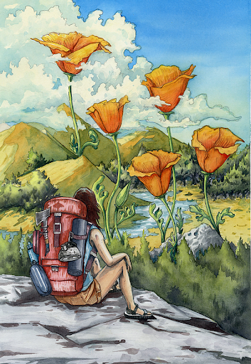 Watercolor: Plants & Flowers of the Bay Area
